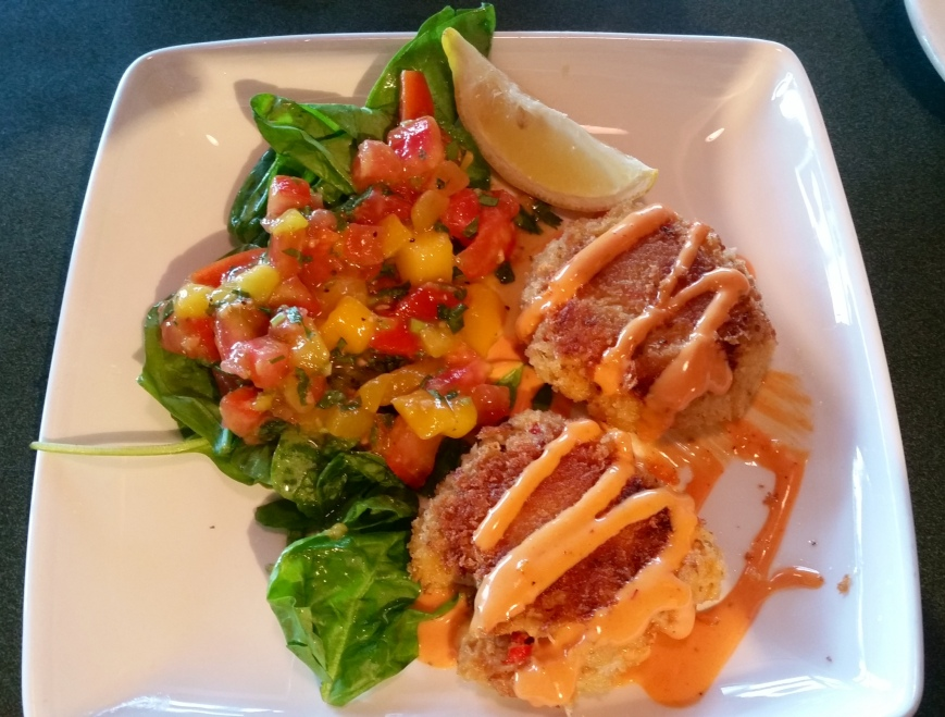 Crab cakes from a local resturant