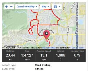 This week's long ride.